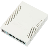 MikroTik RB260GS Коммутатор RouterBOARD 260GS 5-port Gigabit smart switch with SFP cage, SwOS, plastic case, PSU